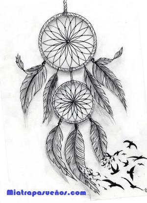 Dibujo de un atrapasueños, donde encontrarás la guía de como dibujar un atrapasueños a lápiz