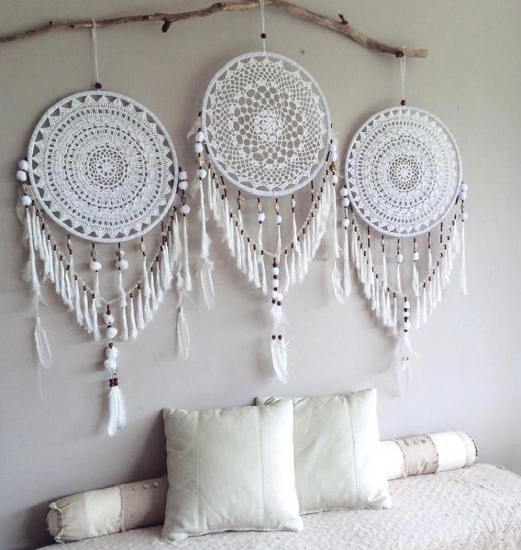 cabecero atrapasueños romantico crochet