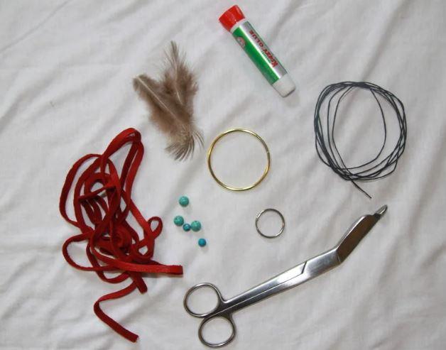 materiales para hacer llavero atrapasueños
